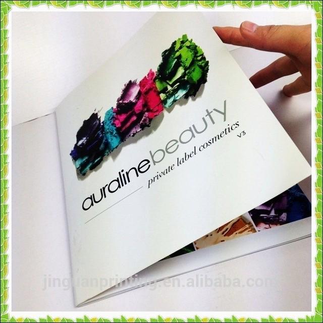 custom cosmetic catalogue printing service/printing cosmetic catalogue