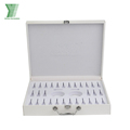 white pu leather makeup cosmetic packing box cardboard cosmetics packaging