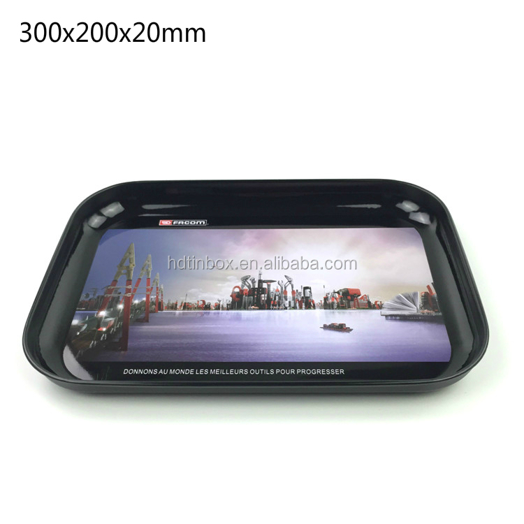 Factory directly sales custom print rolling tin tray