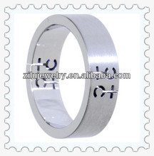 316L stainless steel tacori engagement rings metal coin savers ring