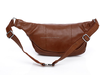 2015 hot sale PU leather Waist Bag brown lightweight running waist bags for Iphone 6