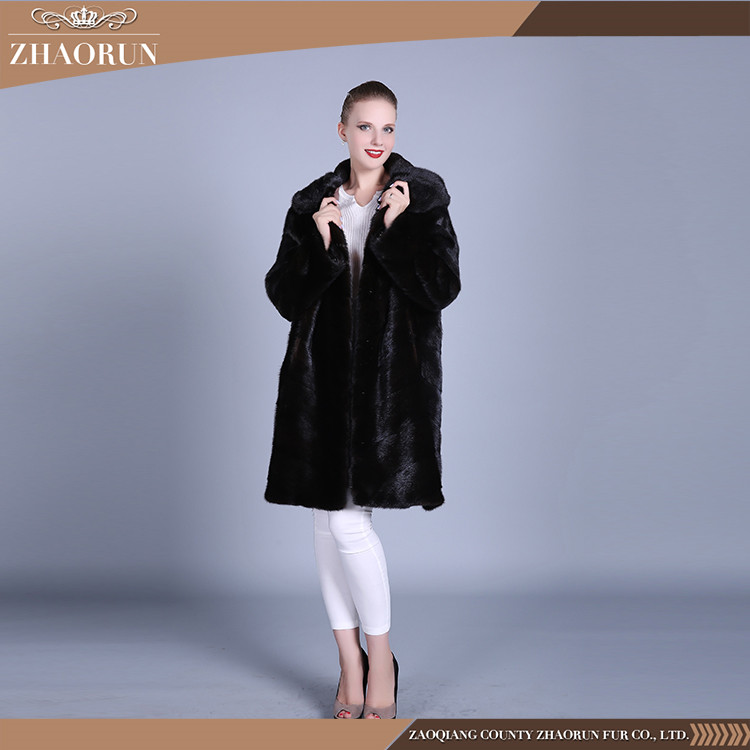 Hot Sell 2016 New Products Mink Fur Coat / Ladies Winter Cheap Fur Coats