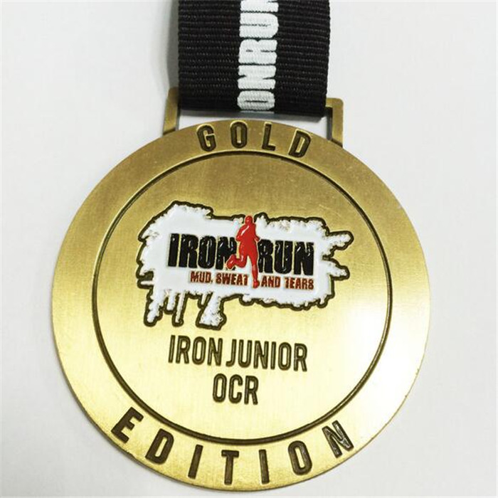 Custom European Gold Plated Commemorative Sports Running Medal
