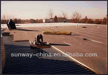 1.2mm EPDM waterproofing membrane 4 meters width wth fleece back