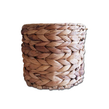 Wholesale Customized Handmade Natural Material Water Hyacinth Desktop Basket