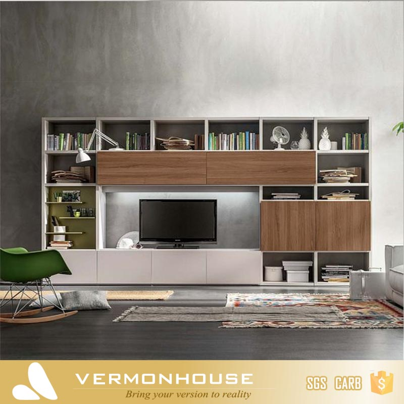 Vermonhouse High Gloss New Model LED LCD Simple TV Stand Wood TV Cabinet