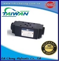 yuken pilot check throttle and check taiwan modular reducing valve