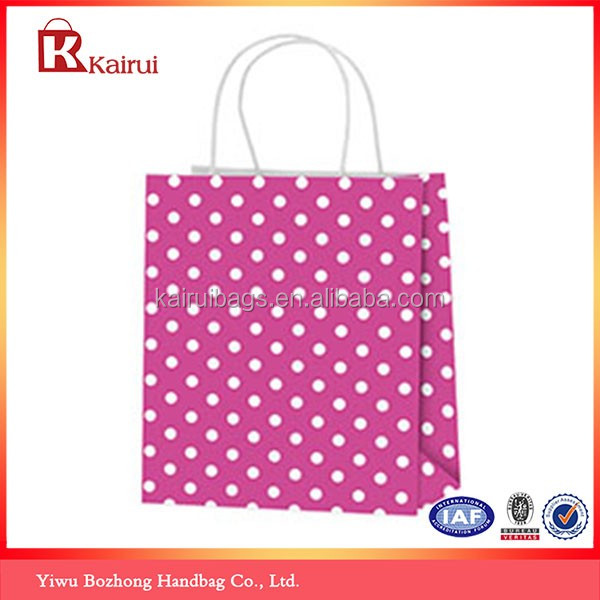 Hot Pink Recycle Pink Craft Gift Paper Bag