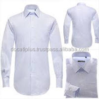 Custom Tailor Made Solid Color Cotton Dress Shirt for Men Men's Office Dress Shirt