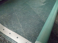 240gsm clear PE mesh fabric tarpaulin film reinforced border with hole film for greenhouse