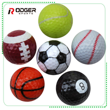 2018 Custom made giveaway sports pattern golf ball for promotion gift or range golf ball