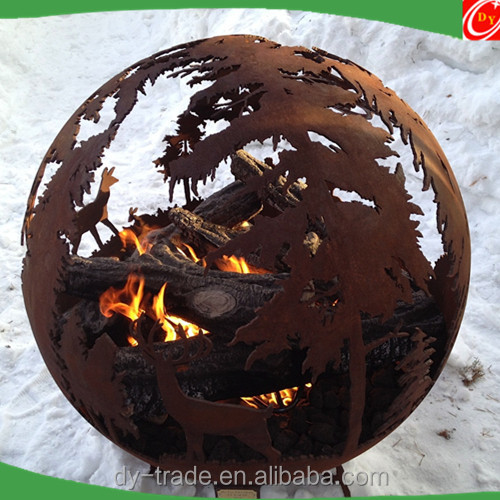 Custom Fire Pit Burning Sphere/Fire Bowl