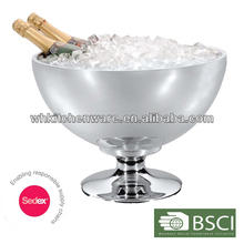 2014 Elegant Style Bar Equipment 18/10 Stainless Steel Double Wall Large Ice Champagne Bucket