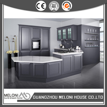 transitional design latest solid colored pvc kitchen cabinet