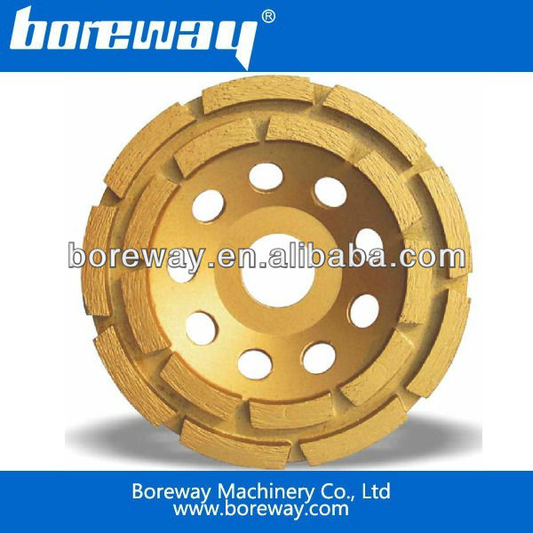 cup shaped diamond grinding wheel with turbo segment