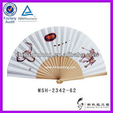 Unique Design Paper Fan Wooden Handicraft