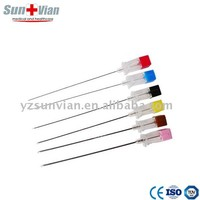 Sterlizable Lumbar puncture needle Spinal needle