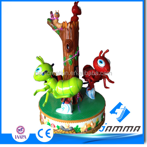 indoor coin operated carrousel,merry-go-round for indoor game machine carrousel series on sale