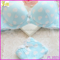 High Quality Women Push Up Bra Sets Sexy Lovely Girl Solid Color Cotton Bra Set Fresh Girl Underwear Lingerie Sets Bra + Panties