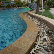Natural stone edge tiles for swimming pool