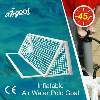 Water toys with inflatable water polo goals