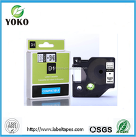 9mm*7m black on white dymo 40913 compatible for DYMO D1 Label Tape label printer typewriter ribbons label maker