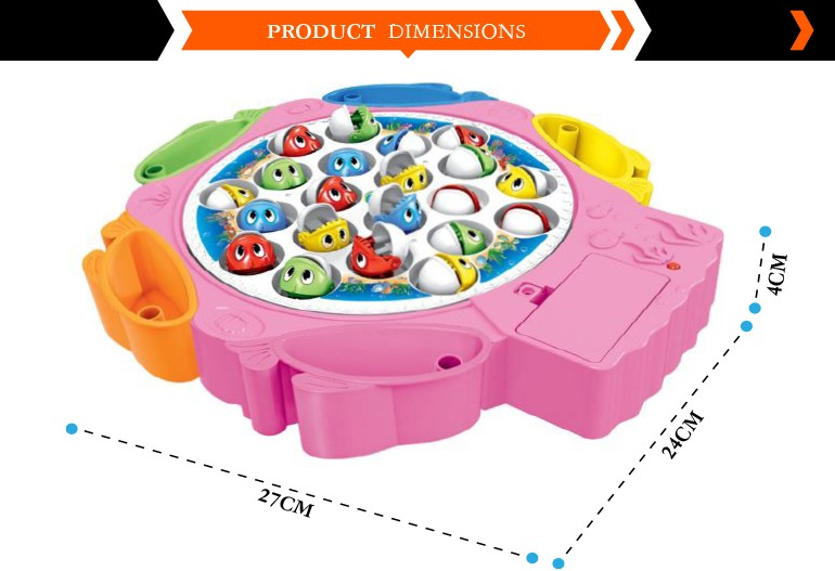 Electric battery operated fishing educational toys plastic game pieces for sale