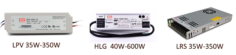 MEANWELL HLG LPV LRS power supply 5-42V indoor outdoor waterproof  uI&CE&CB LED Driver
