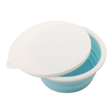 Collapsible silicone food salad bowl with PP lid foldable