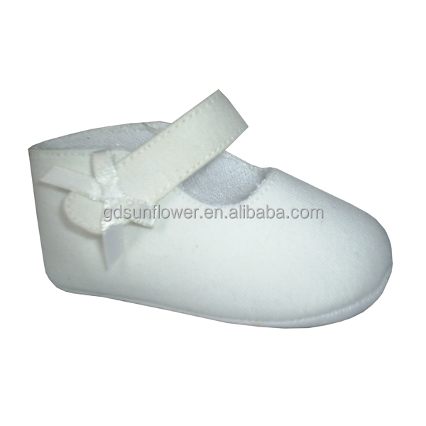 plain white baby shoes