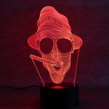 Led USB 3D Night Light Projector Decor Atmosphere Lamp For Party Baby Kids Room