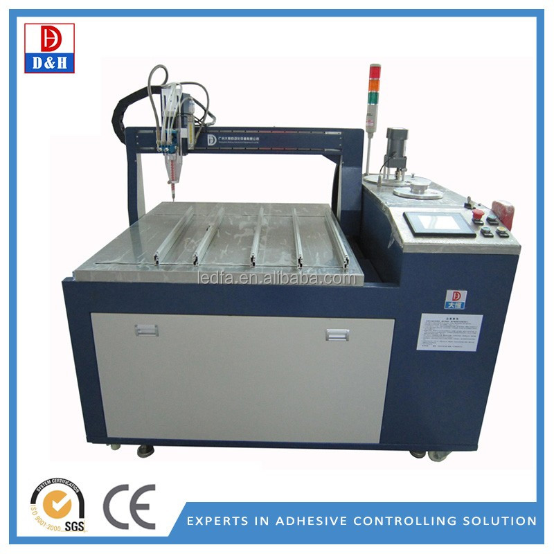 Auto parts sealing usage desktop 3 axis automatic gluing machine