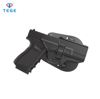Tactical Glock 19/23/32/19x pistol gun holster with new designed paddle and belt clip