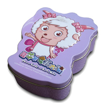 Custom Cute 3 D Animal Shape Tin Packaging Box For Cookies