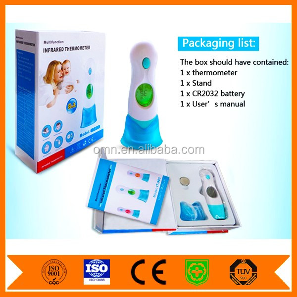 Promotional Home Use Fashionable Child Baby Adult Ear Digital Thermometer Mercury Free Temperature Gauge with Fever Alert IT-903
