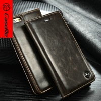 Best selling product for iphone 6s plus Brand Caseme original leather case for mobile phone cover