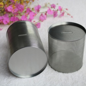 China Factory Seller cylinder cookie tin can custom cosmetic with best price