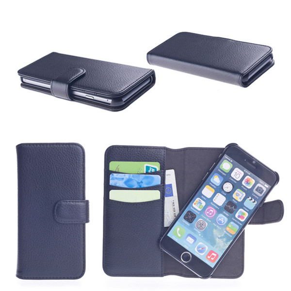 Special Magnetic Cell Phone Detachable Wallet Leather Case For Iphone 5