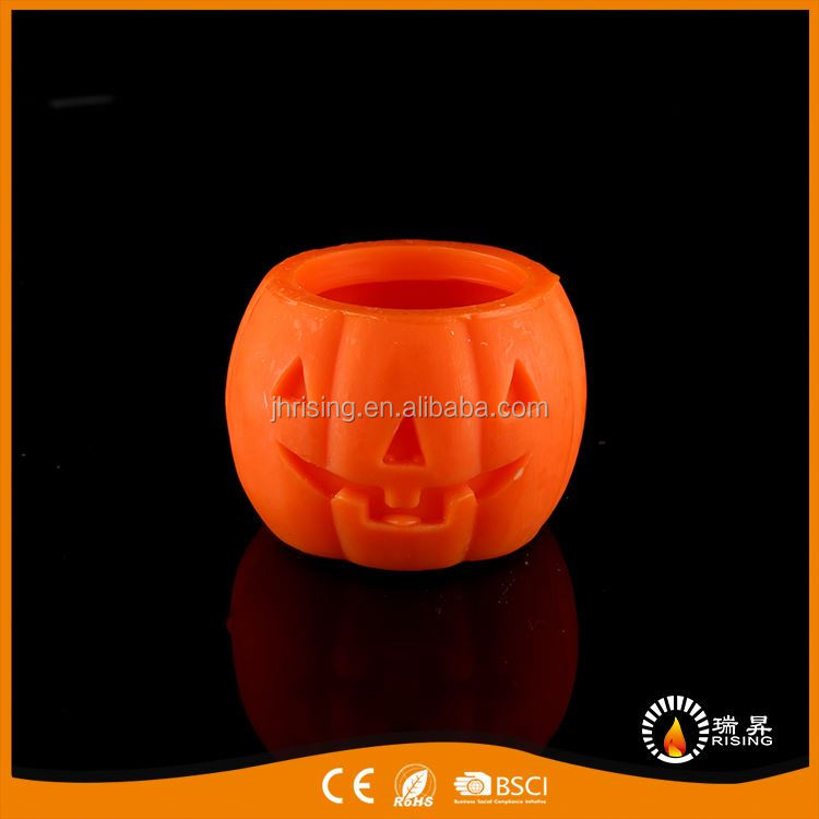 Top fashion refinement halloween cute pumpkin led candles art deco candle in bulk