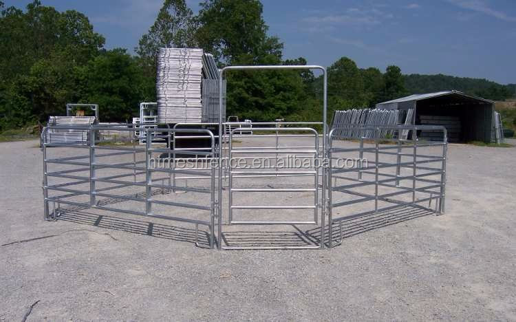 Hot dipped galvanized pipe welded panels horse/cattle 6 rails 6'x12' heavy duty corrals