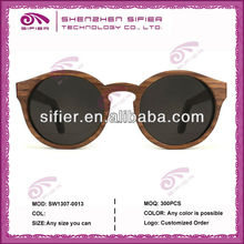 Handmade Retro Style Round Wood Sunglasses,Fashion Sunglasses