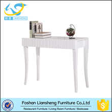 2016 New modern white wood carved console table for living room on sales