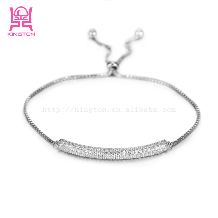 2016 Aug.new stering silver adjustable lengthjewellery bracelet