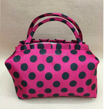 High Quality Luxury New Fashion New Dots Design Ladies Best Travel Cosmetic Bag