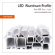 Round Shape Aluminum LED Edge Lit Profile For LED Strips Light