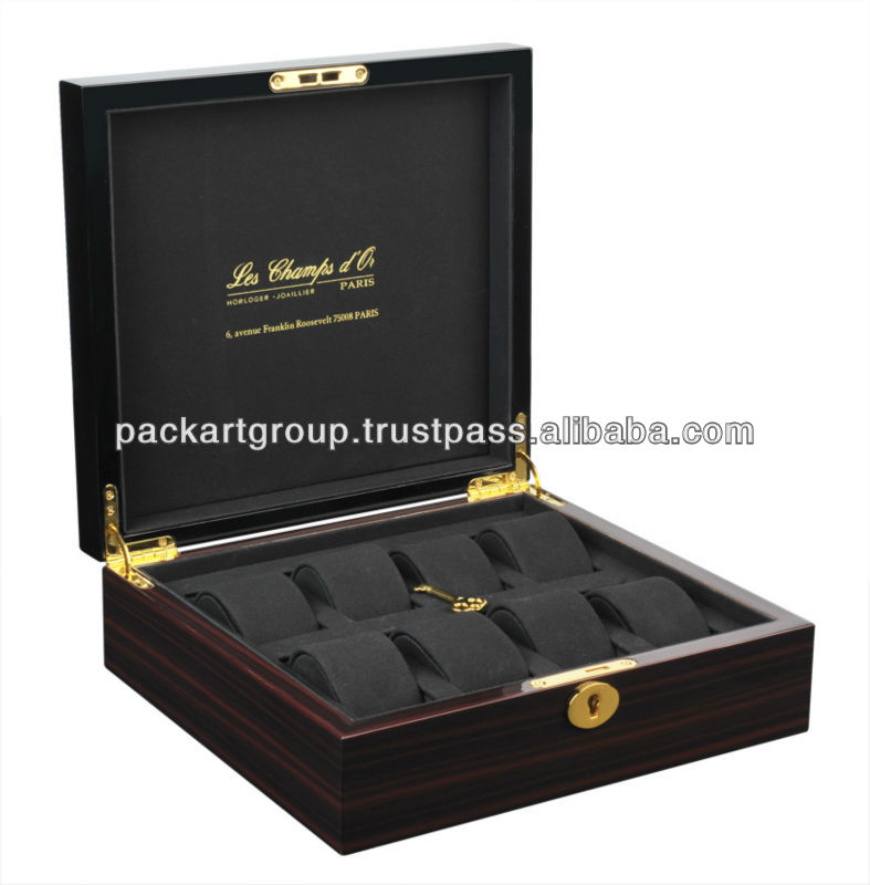 8 Watches Customize Wood Watch Gift Box