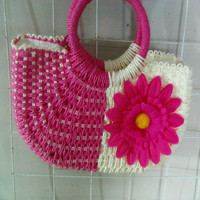 Woven Handbag Fashion Hobo Bag Style Straw Wicker Bag
