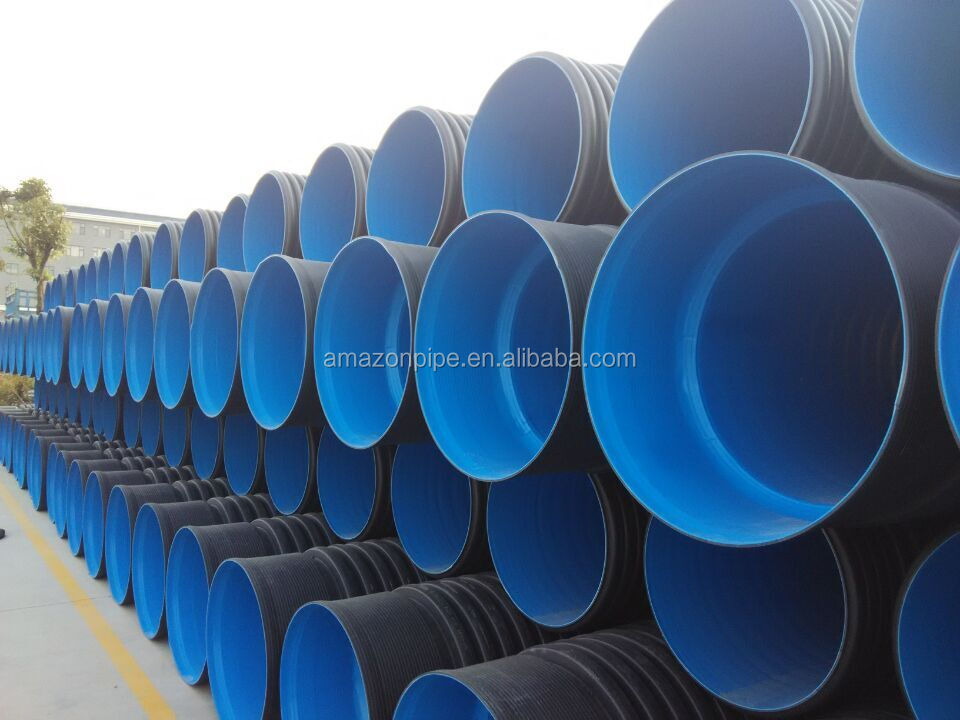 low cost HDPE drainage pipe corrugated yellow drain pipe