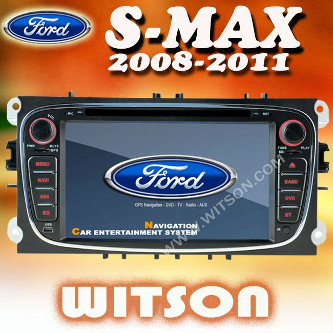 WITSON car gps navigation for s-max with 3G function with SD card for Music and Movie