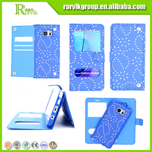 2 in 1 latest popular double window view phone case with card slot for samsung galaxy note 5